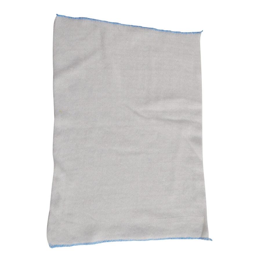 blue dish cloth