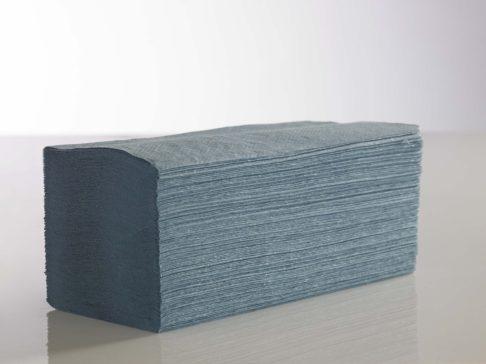 Paper Hand Towel V Fold Blue