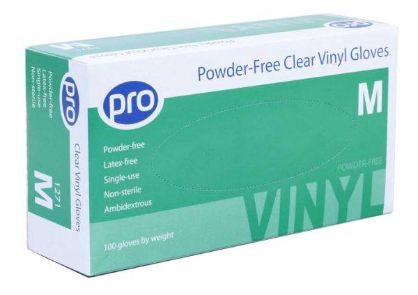 Clear Vinyl Powder Free Glove
